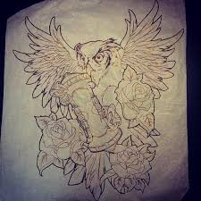 40 fantastic owl hourglass tattoos