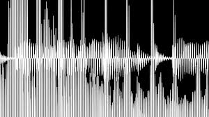 audio waveform and spectrum animation simple black and white