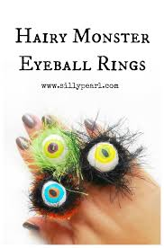 halloween hairy monster eyeball rings see vanessa craft