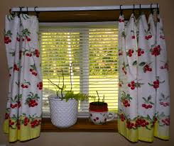 Red And White Kitchen by Cherries Cherry Theme Fern Cherry Curtains Blind Red And