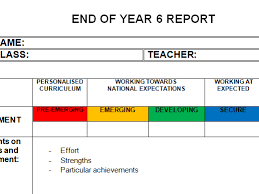 pupil report template end of year report template editable by learningboost teaching