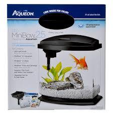 Aqueon Led Light Aqueon Aqueon Led Minibow Desktop Aquarium Kit Black Aquarium Kits