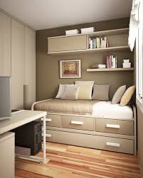dark brown wall color in small teen bedroom ideas with entrancing