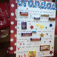 candy bar birthday card using english chocolate u0026 sweets