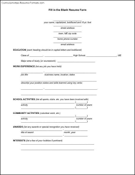 Blank Resume Forms Blank Resume Template Pdf Free Samples Examples 6 Blank Resume