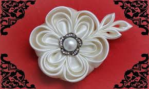 diy kanzashi flower wedding kanzashi flower accessoire tutorial