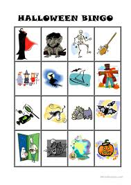 Free Printable Halloween Bingo Cards With Pictures Halloween Bingo Worksheet Free Esl Printable Worksheets Made By