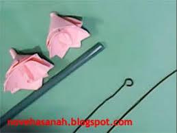 membuat hiasan bunga dari kertas lipat cara membuat bunga kertas yang mudah youtube
