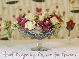 Vintage Vases Wedding Vintage Roses In Crystal Cut Vases Passion For Flowers Blog