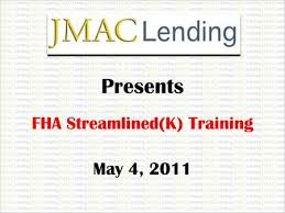 Fha Streamline Worksheet by Agenda Program Features Eligible Ineligible Improvements Ppt