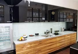 Kitchen  Glossy Black Kitchen Cupboard Colors Modern Design Also - Latest kitchen cabinet design