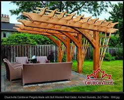 Deck Plans With Pergola by Architecture Cantilevered Pergola Kits Cantilever Pergola Design
