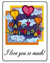 printable anniversary cards
