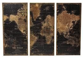 Wall Art World Map by 3 Piece World Map Graphic Art Set U0026 Reviews Joss U0026 Main