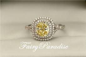 rectangle cushion cut engagement rings 2 carat yellow halo ring rectangle cushion cut