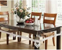 90 Dining Table 60 X 90 Oval Clear Transparent With Lace Border Dining Table Cover