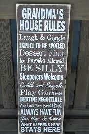 grandma christmas gift grandma u0027s house rules sign great