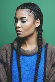 two cornrow hairstyles image