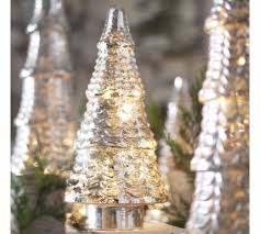 mercury glass decorated trees designcorner