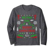fish sweater amazon com unisex we fish you a merry