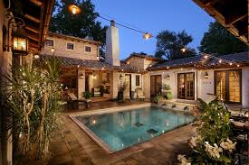 Outdoor String Lights Patio Outdoor String Lighting Patio Transitional With Built In Bench