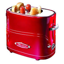 Toaster Machine Nostalgia Electrics Hdt 600 Dog Hotdog Pop Up Toaster Cooker