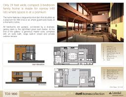lindal cedar home floor plans td3 1890 lindal homes dwell homes collection 24ft wide made