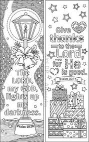 christmas coloring bookmarks kids grown ups