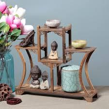 antique curio box shelf wenge desktop decors home office rosewood