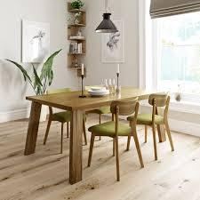 lincoln oak table with 4x harrison green chairs victoriaplum com