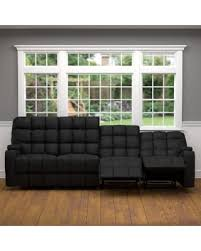Microfiber Reclining Sofa Amazing Deal On Oliver Saskia Black Microfiber Storage