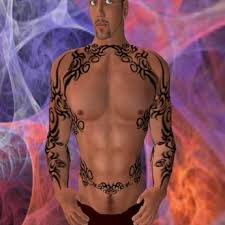 Tribal Torso - second marketplace fancy tribal torso tat for