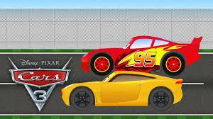 lightning mcqueen vs cruz ramirez u2013 disney pixar cars 3 biler 3