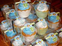 sugar butter baby baby shower cupcake favor boxes