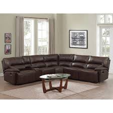 Rooms To Go Leather Recliner Martin 6 Piece Top Grain Leather Reclining Sectional