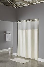 Hookless Vinyl Shower Curtain Amazon Com Hookless Rbh53my307 3 In 1 Shower Curtain Beige Home
