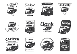 volkswagen wagon vintage vw camper vintage logo vector download free vector art stock