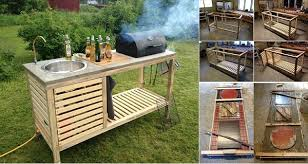 outdoor kitchen furniture diy idea make your own portable outdoor kitchen home design