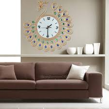 home decorative wall clock design large mirrors living room silver