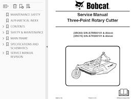 Bobcat 3rc60 Sb Sc 3rc70 3rc72sb Sc Three Point Rotary Cutter