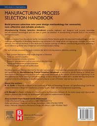 manufacturing process selection handbook amazon co uk k g