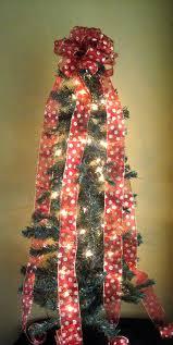 bow on trees happy holidays