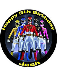 power rangers cake toppers power rangers 7 5 personalised birthday cake topper printed