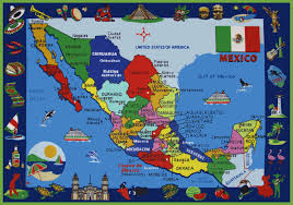 map of mixico mexico maps of united mexican states and printable map