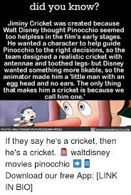 Jiminy Cricket Meme - did you know jiminy cricket was created because walt disney