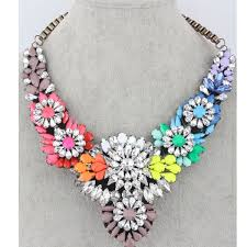 color necklace images Multi colored statement necklace jpg