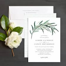 wedding invitations greenery lush greenery wedding invitations by emily elli