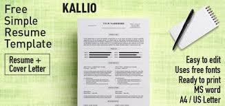Resume Template Docx Kallio Simple Resume Word Template Docx