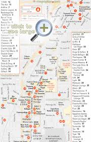 Las Vegas Strip Casino Map by Las Vegas Restaurant Map Virginia Map