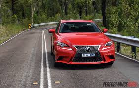 red lexus is 250 2016 lexus is 200t f sport review video performancedrive